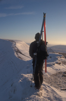 Skier of Corn Du, Brecon Beacons