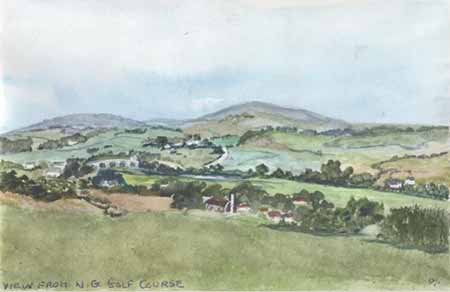 View of Black Craig by Patricia McCrow, Watercolour