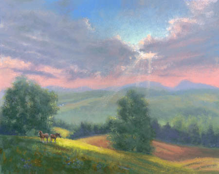 Joanne Noyes, painting from Vermont